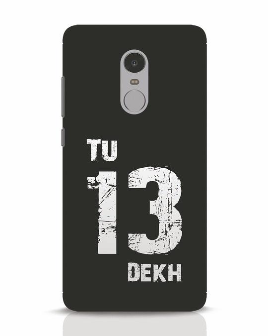 Shop Tu 13 Dekh Xiaomi Redmi Note 4 Mobile Cover-Front