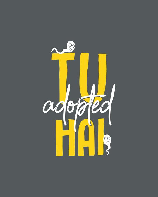 Shop Tu Adopted Hai Round Neck 3/4 Sleeve T-Shirts