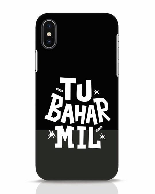 Shop Tu Bahar Mil iPhone X Mobile Cover-Front