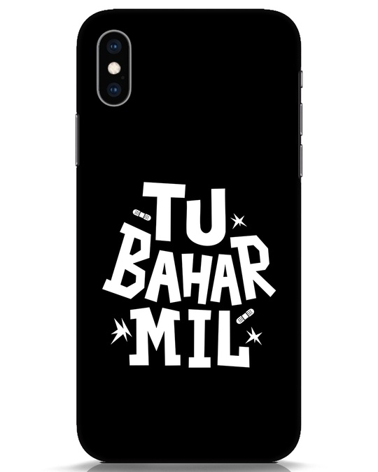 Shop Tu Bahar Mil iPhone XS Mobile Cover-Front