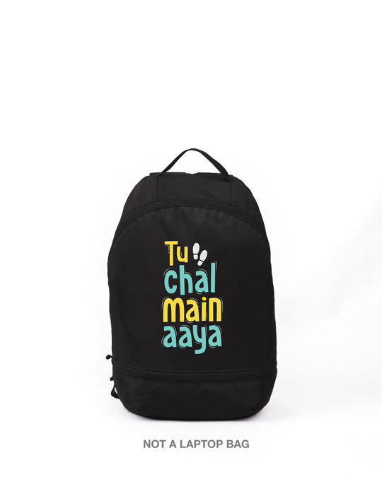 Shop Tu Chal Main Aaya Printed Small Backpack-Front
