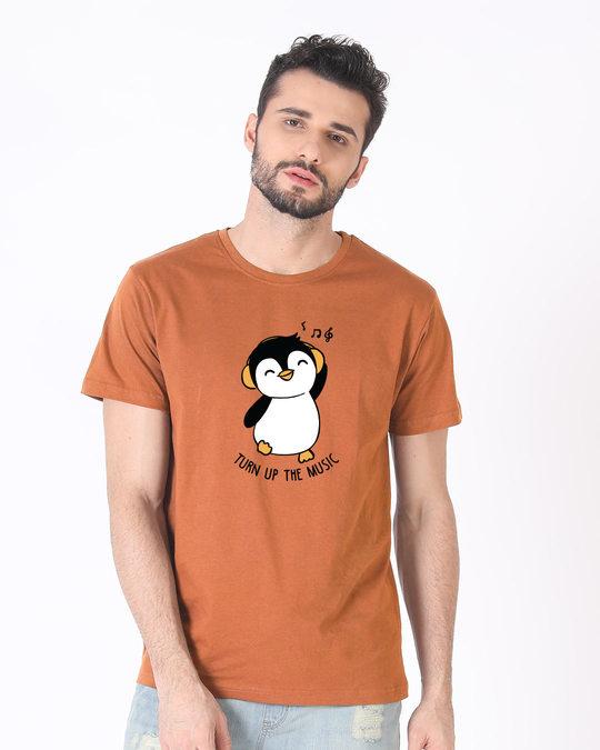 Shop Turn Up The Music Half Sleeve T-Shirt-Back