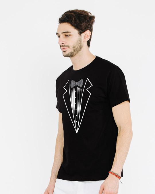Shop Tuxedo Half Sleeve T-Shirt-Full