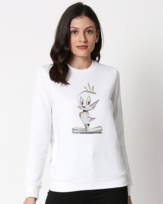 Shop Tweety Origami Fleece Sweater-Front