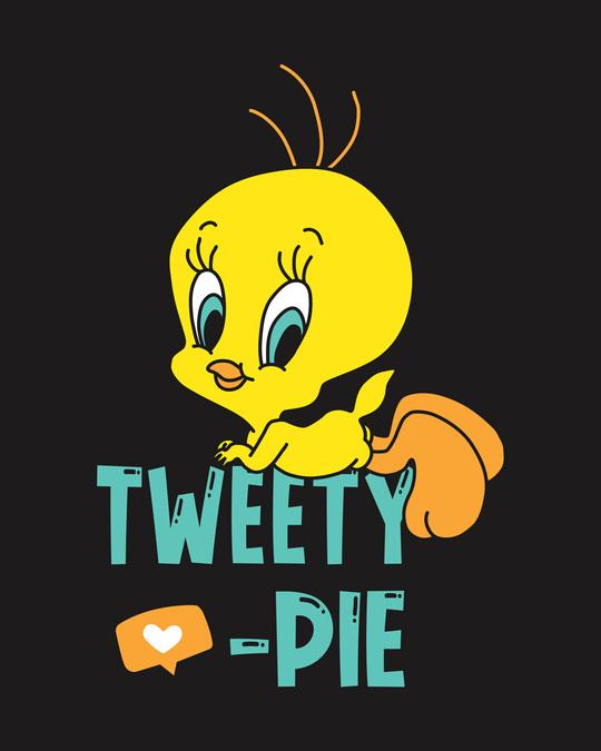 Shop Tweety Pie Round Neck 3/4th Sleeve T-Shirt (TWL)-Full