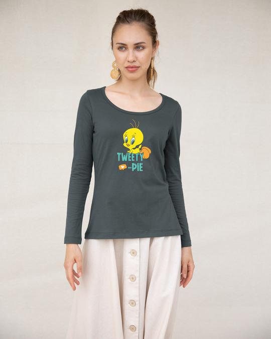 Shop Tweety Pie Scoop Neck Full Sleeve T-Shirt (TWL)-Design