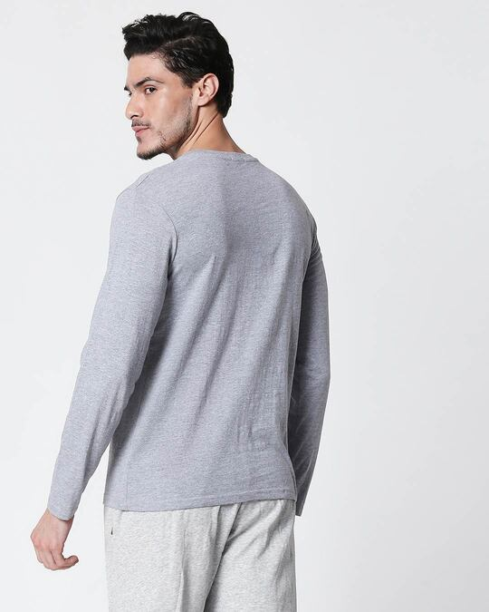 Shop Ultimate Lyadh Khor Full Sleeve T-Shirt Space Grey-Back