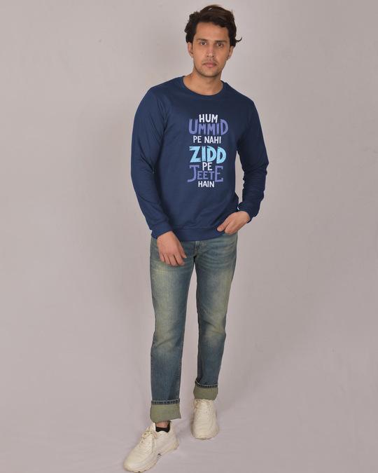 Shop Umid Pe Nahi Zidd Pe Fleece Light Sweatshirt-Design
