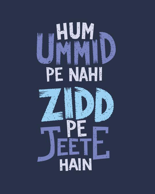 Shop Umid Pe Nahi Zidd Pe Fleece Light Sweatshirt-Full