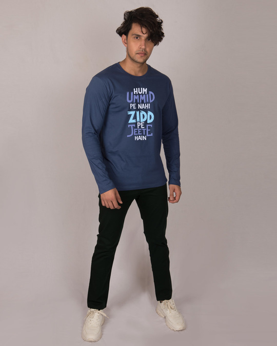 Shop Umid Pe Nahi Zidd Pe Full Sleeve T-Shirt-Design