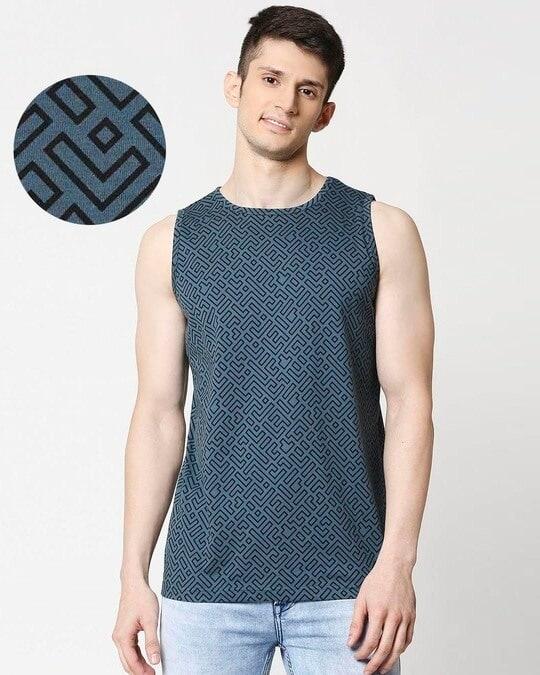 Shop Unending Maze AOP Vest-Front