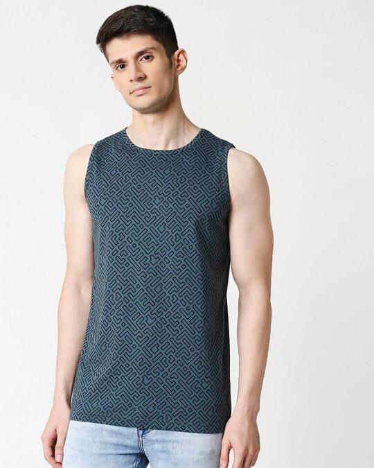 Shop Unending Maze AOP Vest-Design