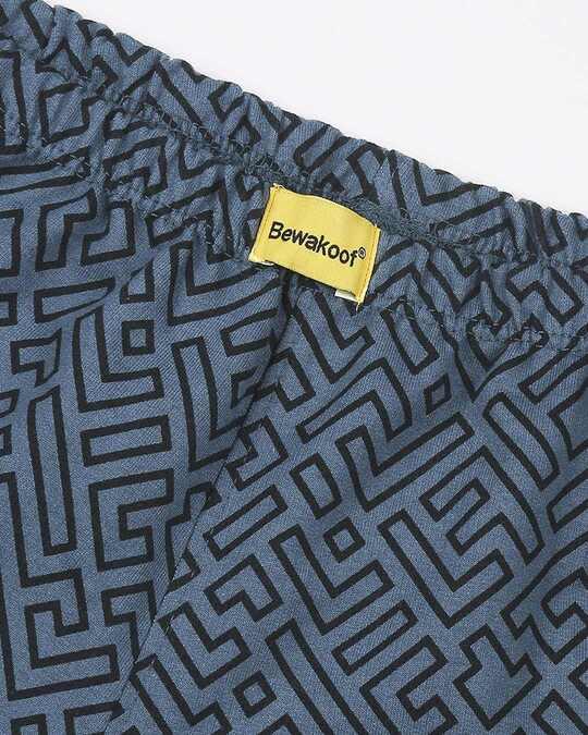 Shop Unending Maze  Printed AOP Shorts