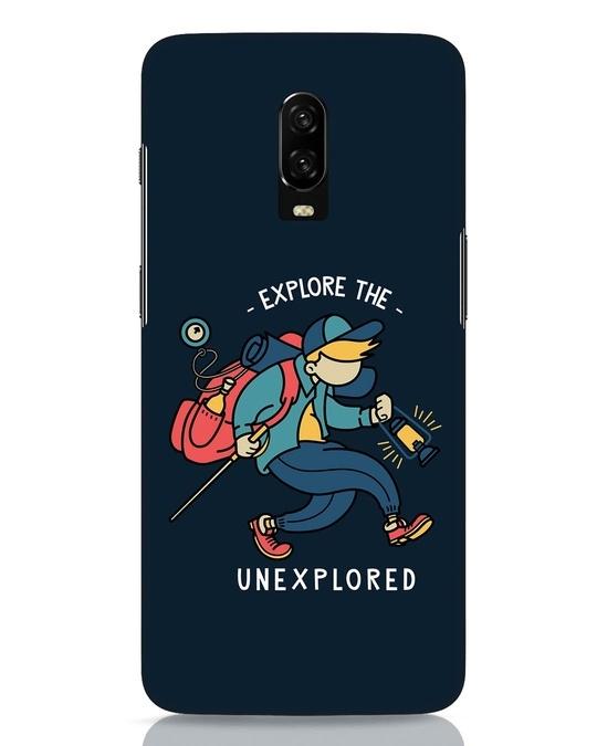 Shop Unexplored OnePlus 6T Mobile Cover-Front
