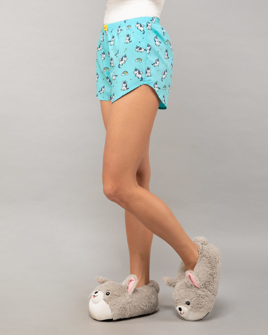 Shop Unicorns All Over Printed Boxer-Back