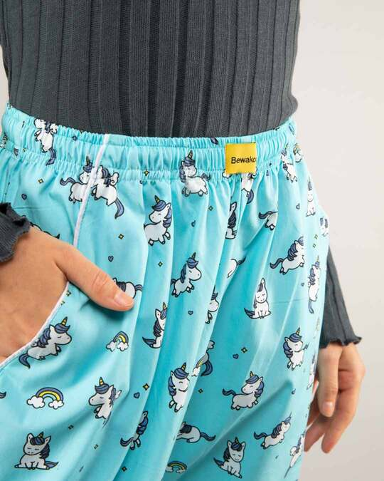 Shop Unicorns All Over Printed Pyjama