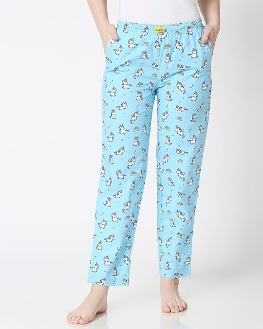 Shop Unicorns All Over Printed Pyjama-Back
