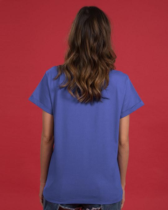 Shop Unique Barcode Boyfriend T-Shirt-Back