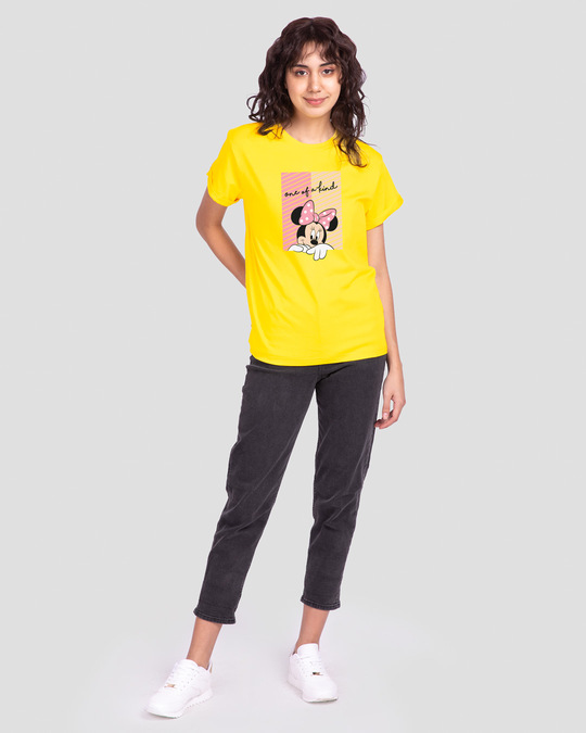 Shop Unique Minnie Boyfriend T-Shirt (DL) Pineapple Yellow-Full