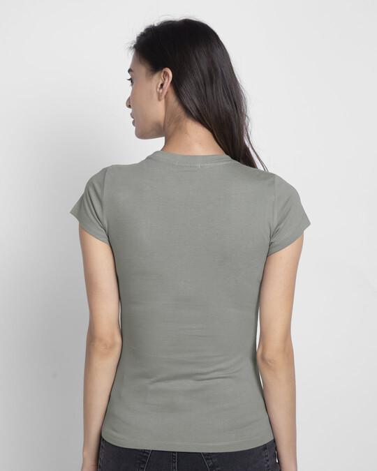 Shop Unique Minnie Half Sleeve T-Shirt (DL) Meteor Grey-Back