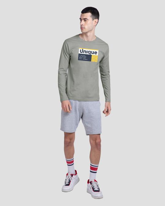 Shop Unique Smiley Full Sleeve T-Shirt Meteor Grey-Design