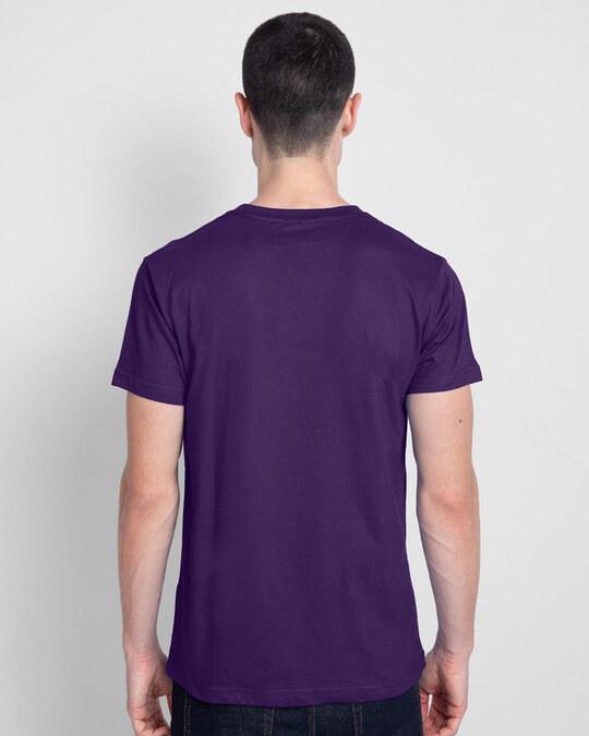 Shop Unique Smiley Half Sleeve T-Shirt Parachute Purple-Back