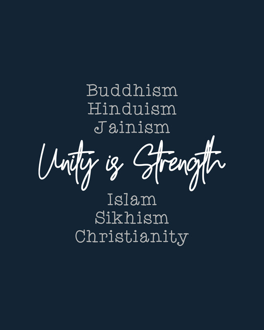 Shop Unity Is Strength Full Sleeve T-Shirt