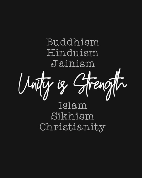 Shop Unity Is Strength Half Sleeve T-Shirt-Full