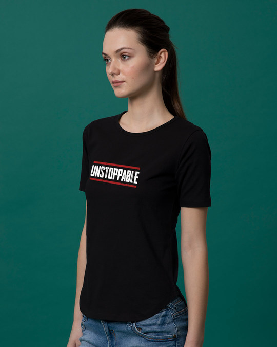 Shop Unstoppable Basic Round Hem T-Shirt-Back