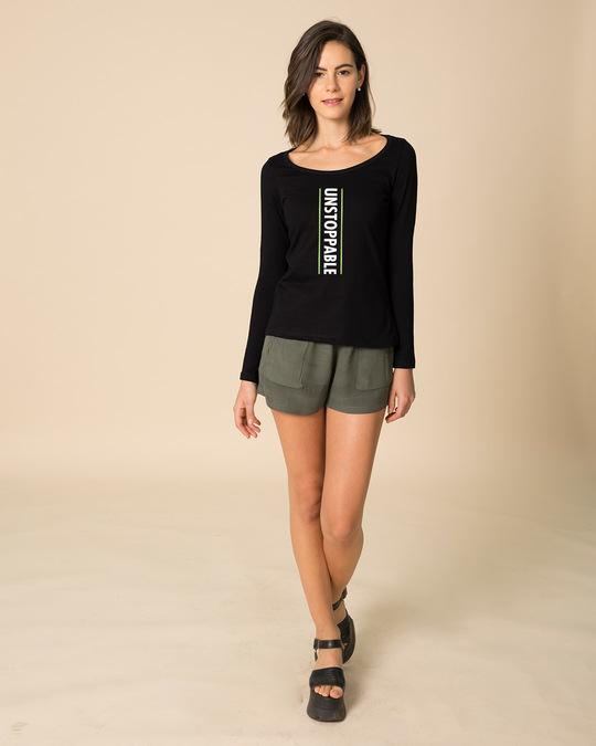 Shop Unstoppable Neon Scoop Neck Full Sleeve T-Shirt-Full