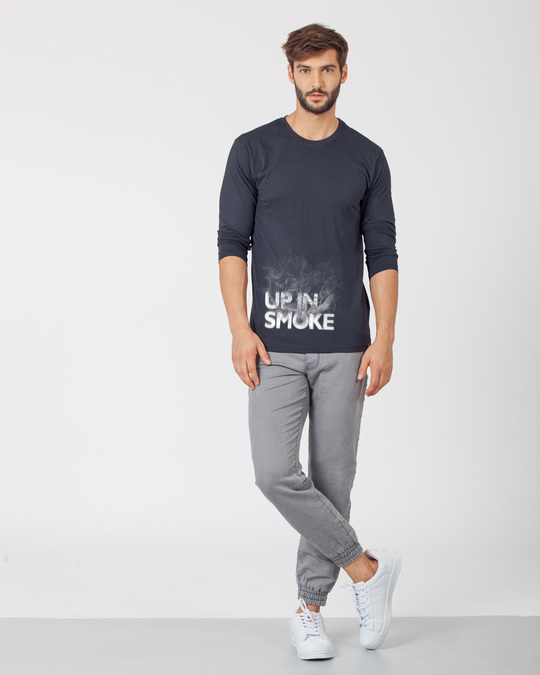 Shop Up In Smoke Typography Full Sleeve T-Shirt-Full