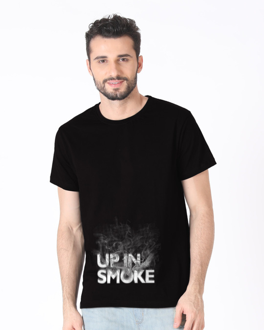 Shop Up In Smoke Typography Half Sleeve T-Shirt-Back