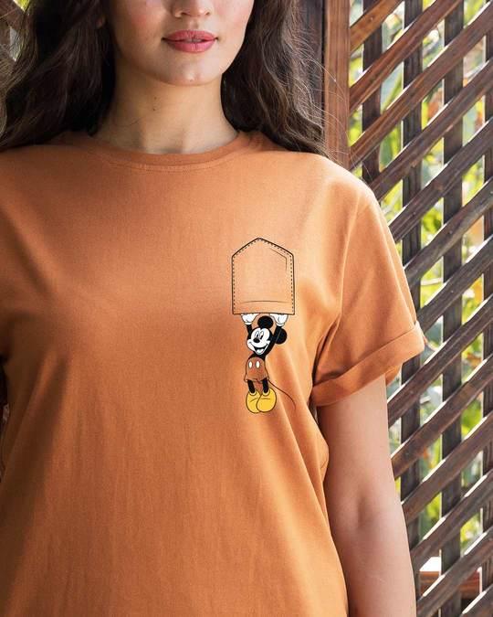 Shop Upside Down Mickey Boyfriend T-Shirt (DL)-Front