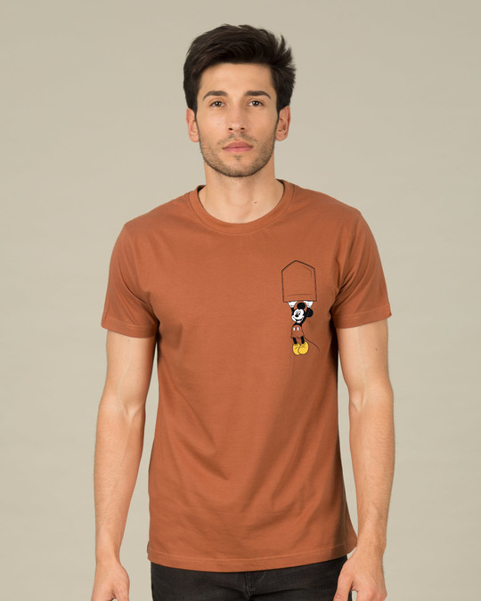 Shop Upside Down Mickey Half Sleeve T-Shirt (DL)-Back