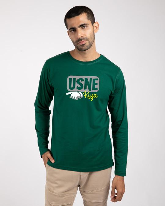 Shop Ussne Kiya Left Full Sleeve T-Shirts-Front