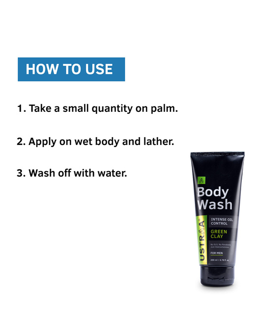 Shop Body Wash Green Clay   200 Ml (Pack Of 2)