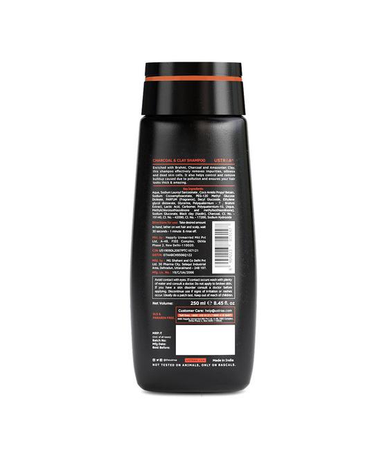Shop Charcoal & Clay Shampoo   250 Ml-Back
