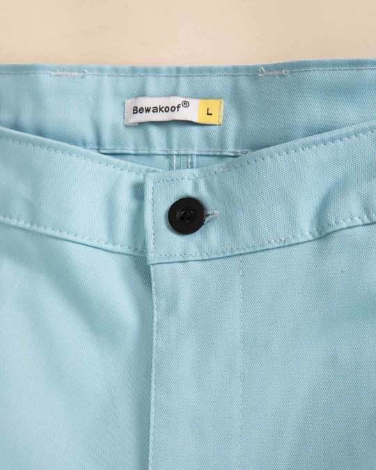 Shop Utah Sky Blue Slim Fit Cotton Chino Pants