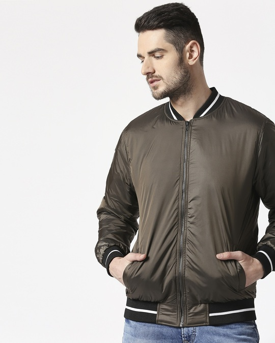 Shop Copper Ultra Varsity Bomber Jacket-Front