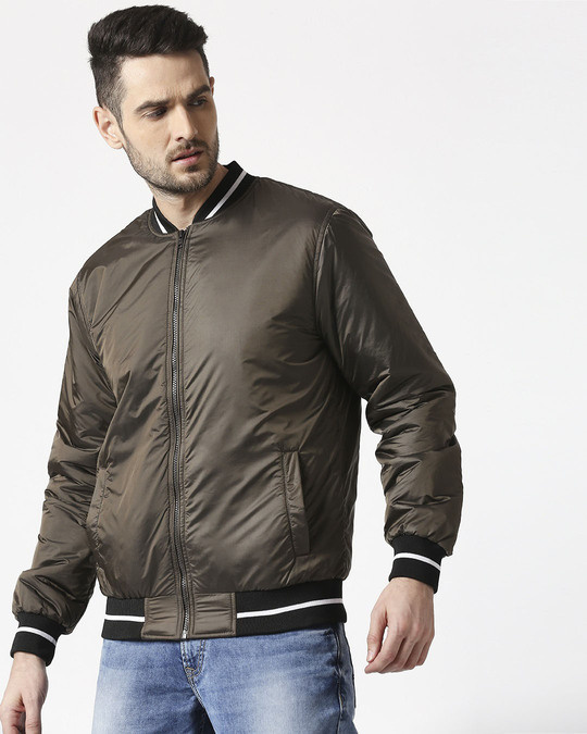 Shop Copper Ultra Varsity Bomber Jacket-Back