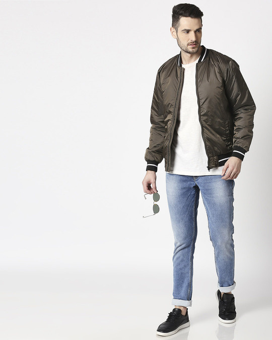 Shop Copper Ultra Varsity Bomber Jacket