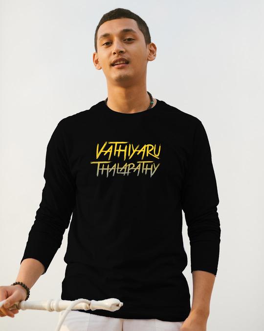 Shop Vaathi Full Sleeve T-Shirt Black-Front