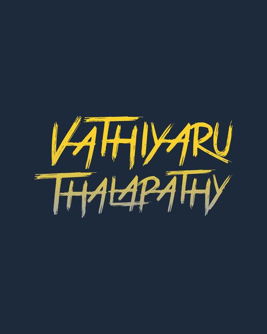 Shop Vaathi Half Sleeve T-Shirt Navy Blue