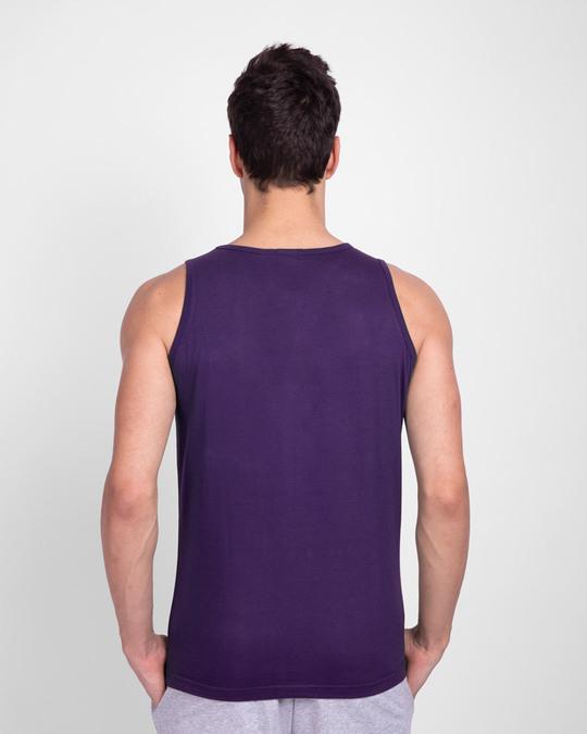 Shop Vaathi Round Neck Vest Parachute Purple-Back