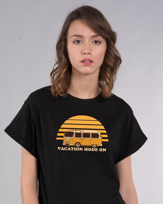 Shop Vacation Mode On Boyfriend T-Shirt-Front