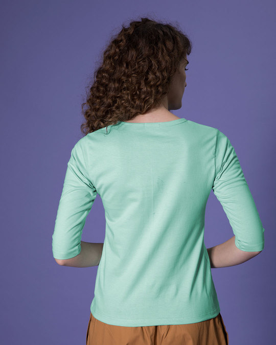 Shop Vacay Mode Round Neck 3/4th Sleeve T-Shirt-Back