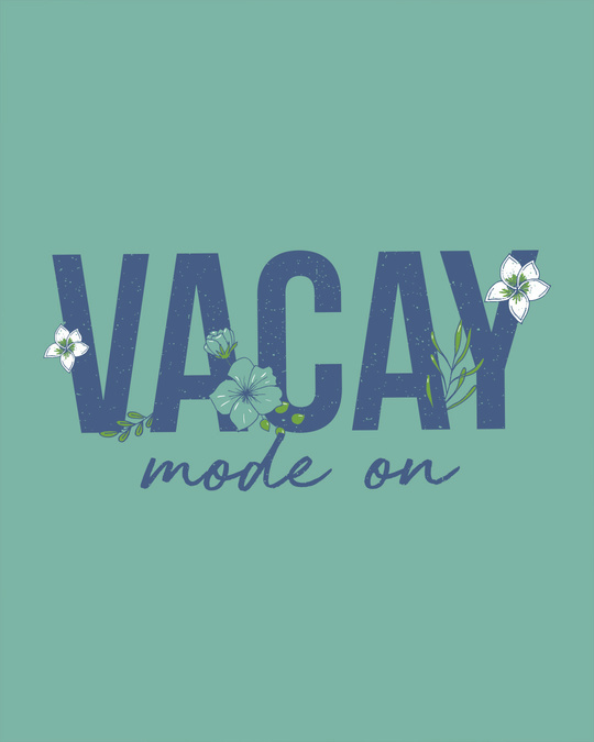 Shop Vacay Mode Round Neck 3/4th Sleeve T-Shirt