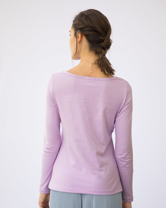 Shop Vacay Mode Scoop Neck Full Sleeve T-Shirt-Back