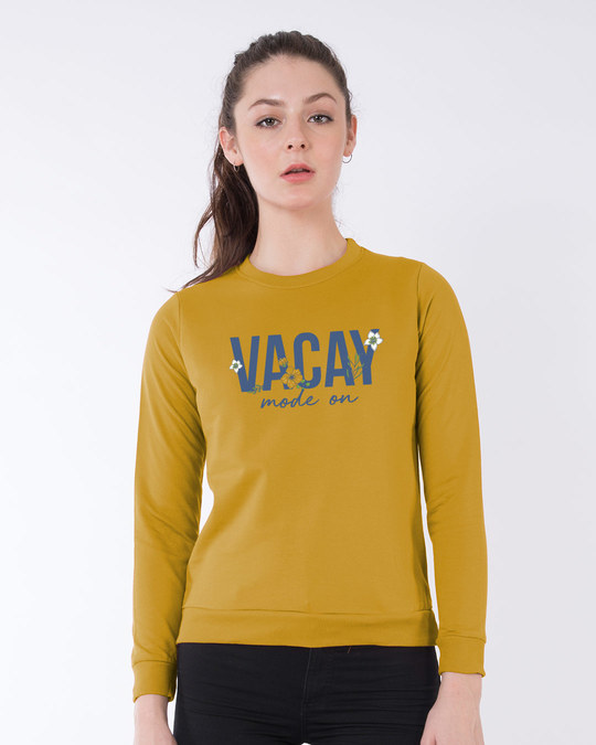 Shop Vacay Mode Fleece Light Sweatshirt-Front