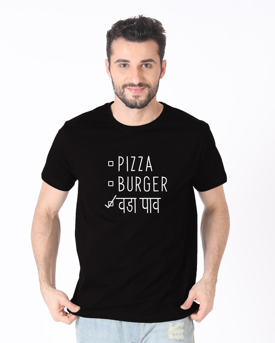 Shop Vada Pav Half Sleeve T-Shirt-Back